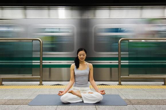 медитация в метро