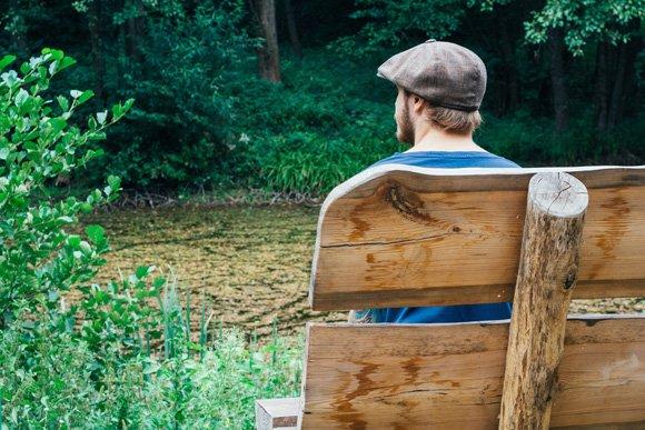 скамейка в лесу