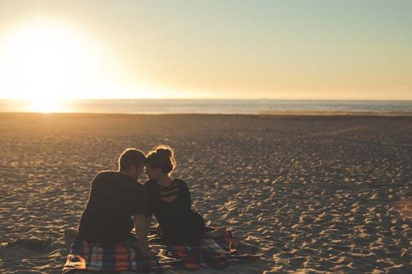 пляж и закат